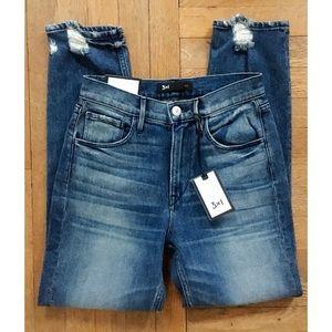 3x1 shelter Straight Crop Jeans Vedder Wash NWT